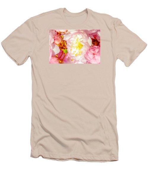 Men's T-Shirt (Slim Fit) featuring the photograph Sakura Cherry Flower - Wedding Of Nature by Alexander Senin