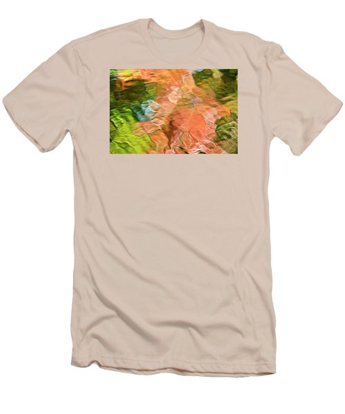 Salmon Mosaic Abstract Men's T-Shirt (Athletic Fit)