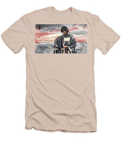Samurai Warrior Men's T-Shirt (Slim Fit) by Ian Gledhill