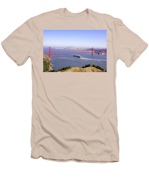 Men's T-Shirt (Slim Fit) featuring the photograph San Francisco - City By The Bay by Art Block Collections