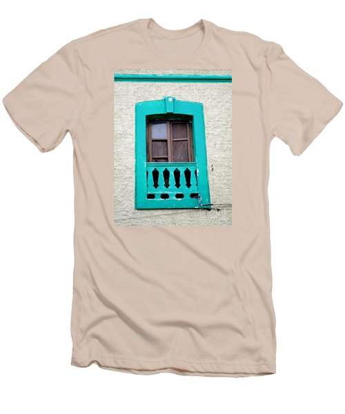 San Jose Del Cabo Window 12 Men's T-Shirt (Slim Fit) by Randall Weidner