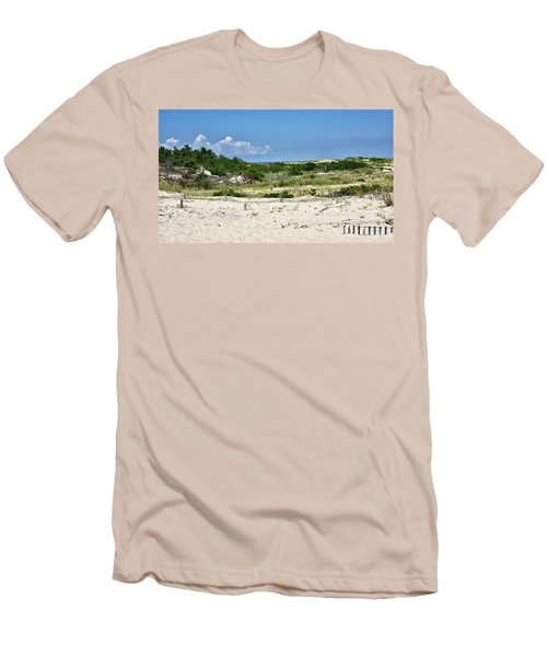 Men's T-Shirt (Slim Fit) featuring the photograph Sand Dune In Cape Henlopen State Park - Delaware by Brendan Reals