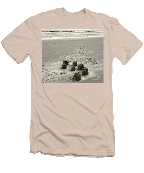 Men's T-Shirt (Slim Fit) featuring the photograph Sand Fun by Raymond Earley