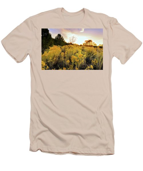 Men's T-Shirt (Slim Fit) featuring the photograph Santa Fe Magic by Stephen Anderson