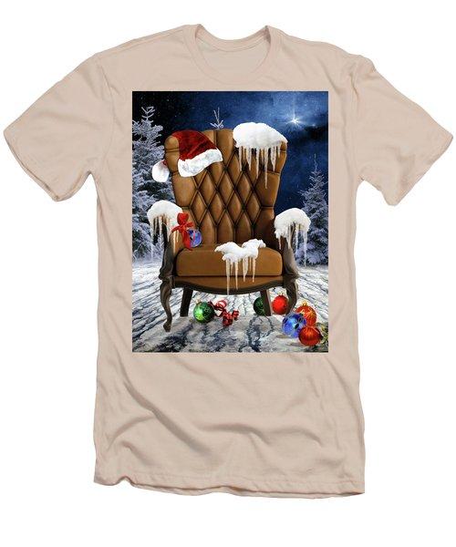 Santa's Chair Men's T-Shirt (Slim Fit) by Mihaela Pater