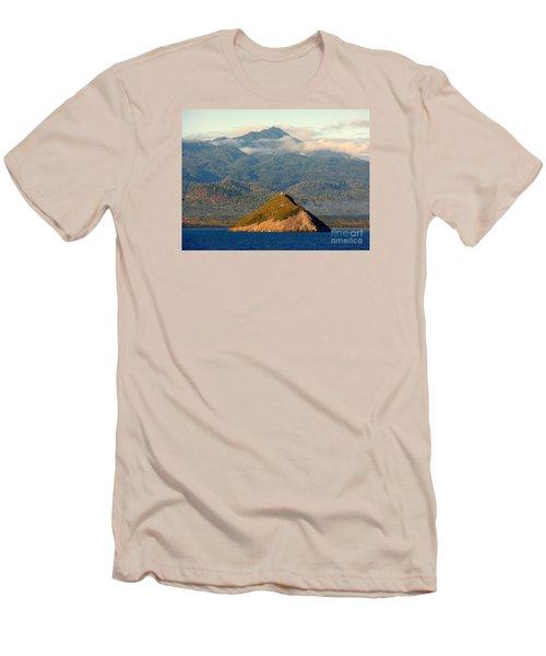 Sao Tome Africa Harbor Men's T-Shirt (Slim Fit) by John Potts