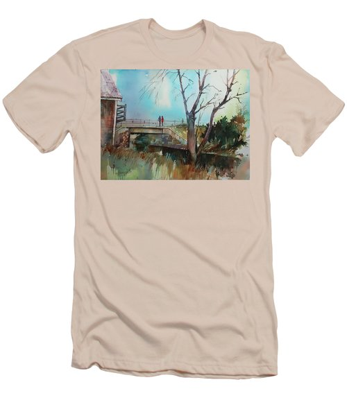 Sara's Viewi Of The Jones River Men's T-Shirt (Slim Fit) by P Anthony Visco