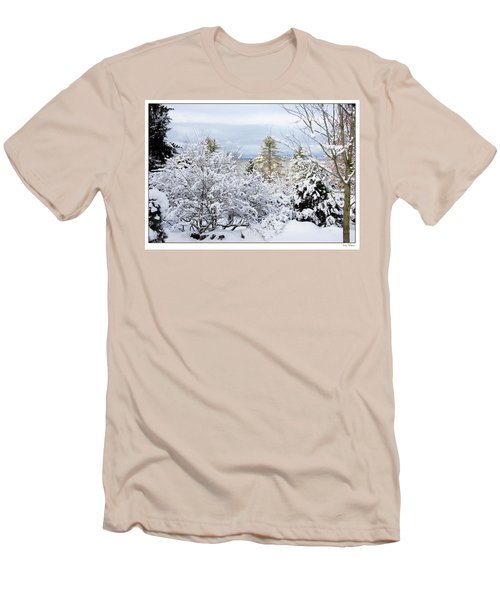 Men's T-Shirt (Slim Fit) featuring the photograph Saratoga Winter Scene by Lise Winne