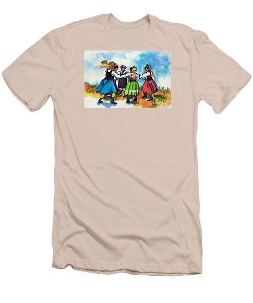 Scandinavian Dancers Men's T-Shirt (Slim Fit) by Kathy Braud