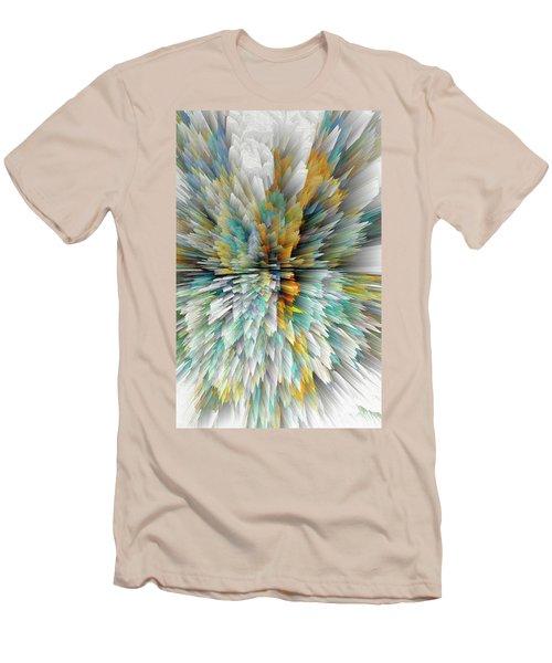 Men's T-Shirt (Athletic Fit) featuring the digital art Sculptural Series Digital Painting 23.102011windextsc590l by Kris Haas