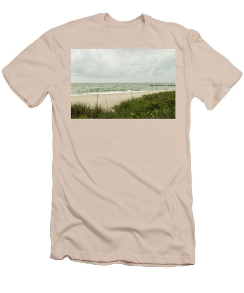 Sea Birds Awaiting The Rain Men's T-Shirt (Athletic Fit)