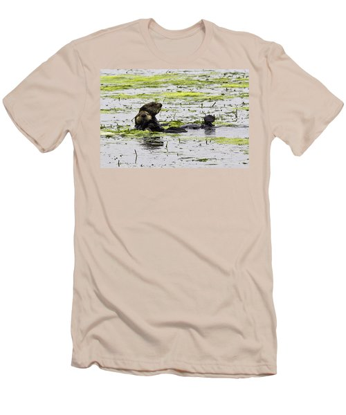 Sea Otters 1 Men's T-Shirt (Athletic Fit)