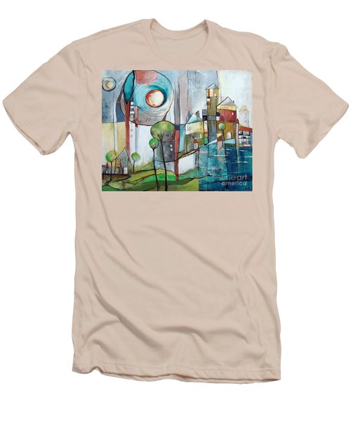 Sea Town Men's T-Shirt (Slim Fit) by Karin Husty