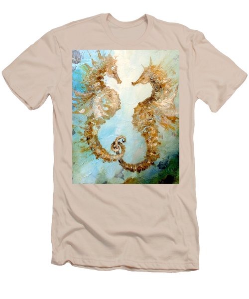 Seahorses In Love 2016 Men's T-Shirt (Slim Fit) by Dina Dargo