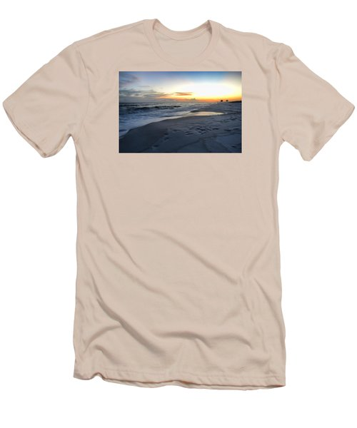 Seaside Sunset Men's T-Shirt (Slim Fit) by Renee Hardison