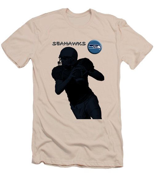 Seattle Seahawks Football Men's T-Shirt (Slim Fit) by David Dehner