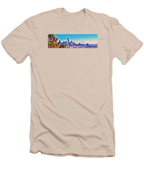 Seattle Sky Men's T-Shirt (Slim Fit) by Martin Cline