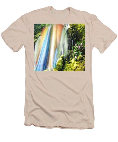 Secret Waterfall Of Life Men's T-Shirt (Slim Fit) by Belinda Threeths