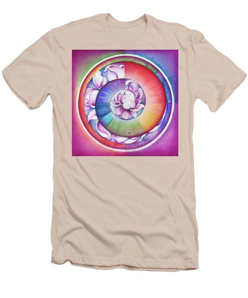 Seed Of Life - Mandala Of Divine Creation Men's T-Shirt (Slim Fit) by Anna Miarczynska