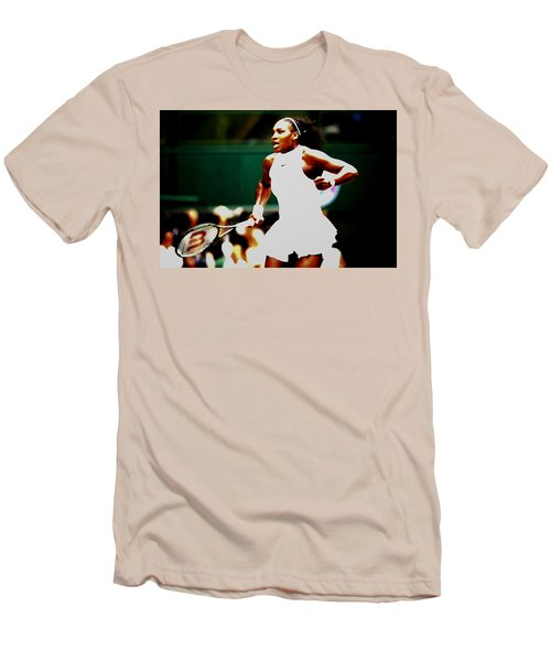 Serena Williams Making History Men's T-Shirt (Slim Fit) by Brian Reaves