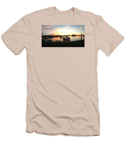 Men's T-Shirt (Slim Fit) featuring the photograph Serene Sunset by Rebecca Wood