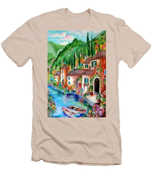 Serenity By The Lake Men's T-Shirt (Slim Fit) by Roberto Gagliardi