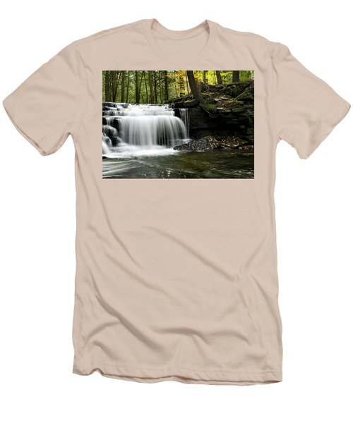 Serenity Waterfalls Landscape Men's T-Shirt (Athletic Fit)