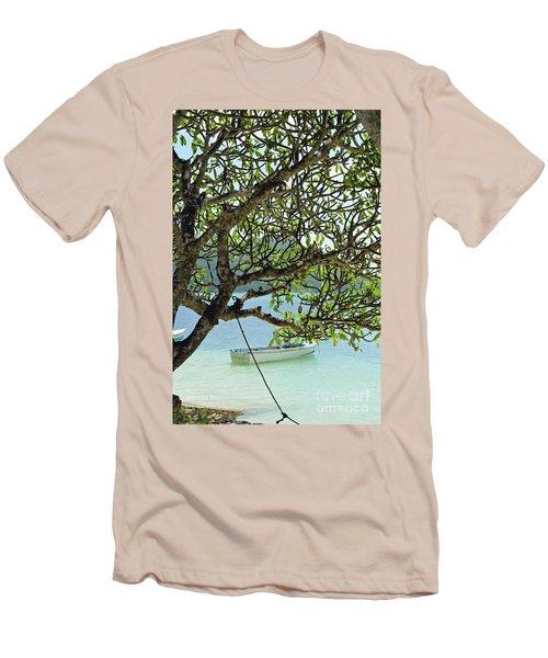 Men's T-Shirt (Slim Fit) featuring the digital art Seychelles Island by Eva Kaufman