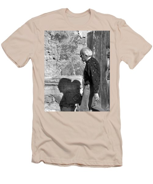 Shadow Of A Man Men's T-Shirt (Slim Fit) by Jim Walls PhotoArtist