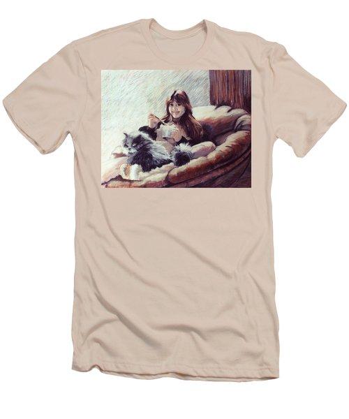 Sharing Ice Cream Men's T-Shirt (Athletic Fit)