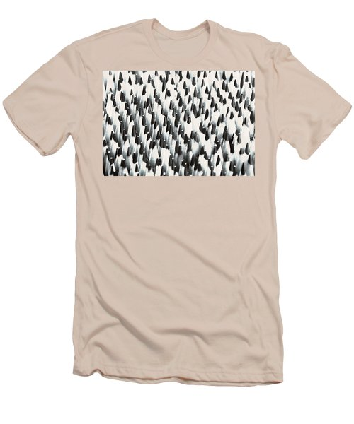 Men's T-Shirt (Slim Fit) featuring the photograph Sharp Wooden Pencils by Evgeniy Lankin