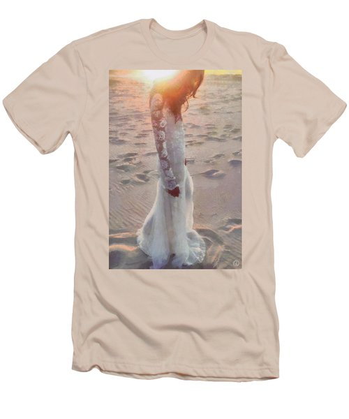Men's T-Shirt (Slim Fit) featuring the digital art She Just Went Away by Gun Legler