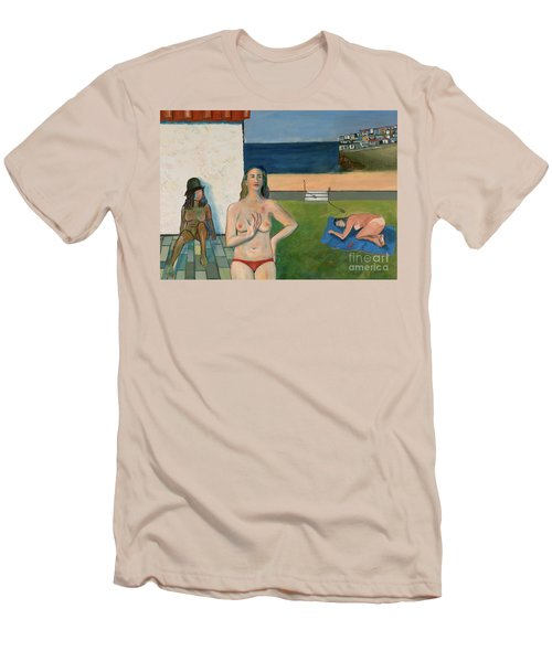 Men's T-Shirt (Slim Fit) featuring the painting She Walks In Beauty by Paul McKey
