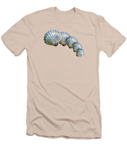 Shell Shape Design Men's T-Shirt (Slim Fit) by Mim White