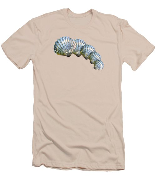 Shell Shape Design Men's T-Shirt (Athletic Fit)