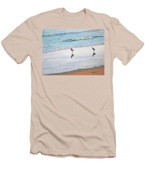 Shore Birds Men's T-Shirt (Slim Fit) by Mike Robles