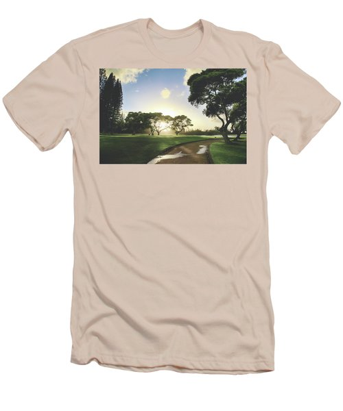 Men's T-Shirt (Slim Fit) featuring the photograph Show Me The Way by Laurie Search