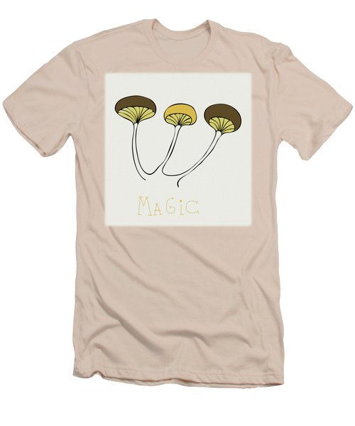 Men's T-Shirt (Slim Fit) featuring the drawing Shroom by Frank Tschakert