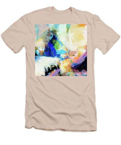 Men's T-Shirt (Slim Fit) featuring the painting Shuttle by Dominic Piperata