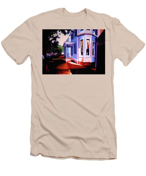 Side Street - Lambertville Men's T-Shirt (Slim Fit) by Robert Henne