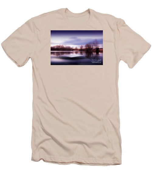 Men's T-Shirt (Slim Fit) featuring the photograph Silence Lake  by Franziskus Pfleghart