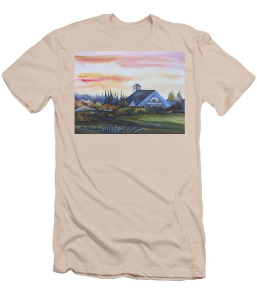 Silence Upon Midnapore Men's T-Shirt (Slim Fit) by Anna  Duyunova