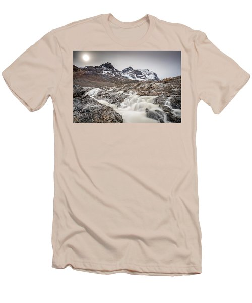 Silky Melt Water Of Athabasca Glacier Men's T-Shirt (Slim Fit) by Pierre Leclerc Photography