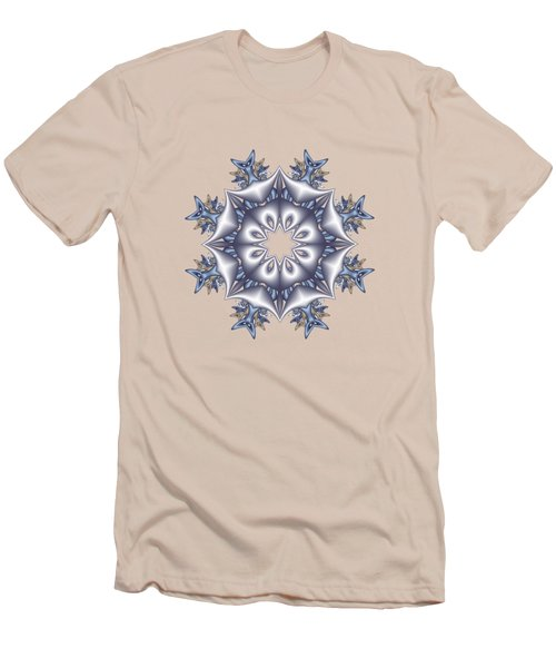 Silver Fractal Snowflake Men's T-Shirt (Athletic Fit)