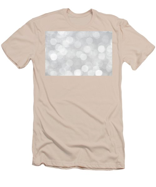 Silver Grey Bokeh Abstract Men's T-Shirt (Slim Fit) by Peggy Collins