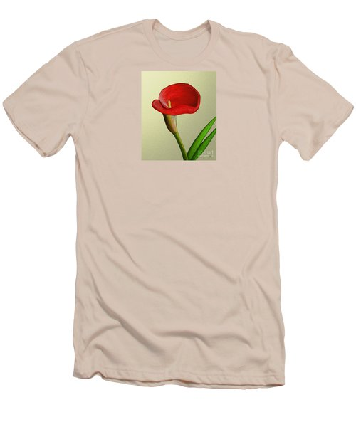 Men's T-Shirt (Slim Fit) featuring the painting Single Pose by Rand Herron