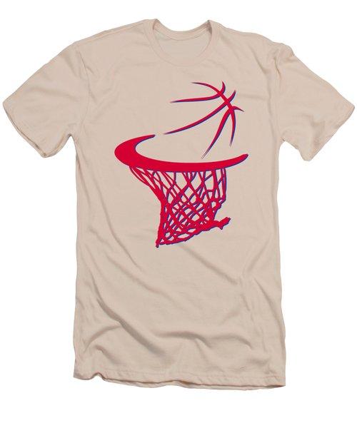 Sixers Basketball Hoop Men's T-Shirt (Slim Fit) by Joe Hamilton