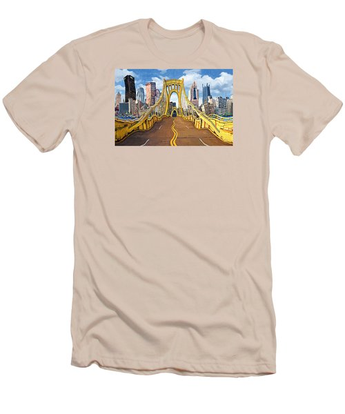 Sixth Street Bridge, Pittsburgh Men's T-Shirt (Athletic Fit)
