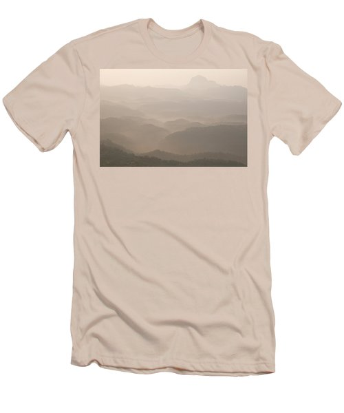 Skn 4182 Sketching With Light Men's T-Shirt (Athletic Fit)