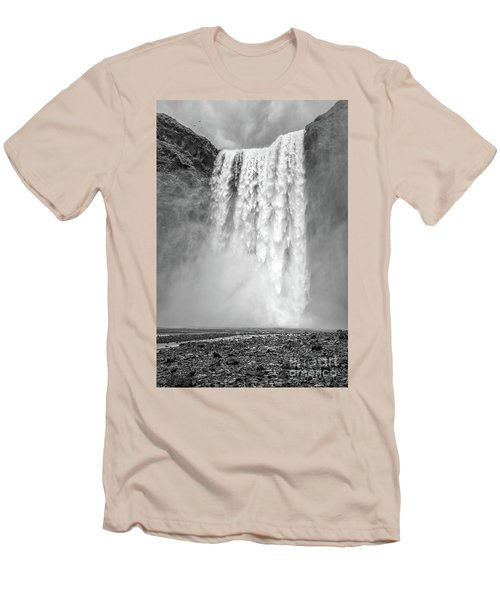 Men's T-Shirt (Athletic Fit) featuring the photograph Skogafoss Waterfall Iceland by Edward Fielding
